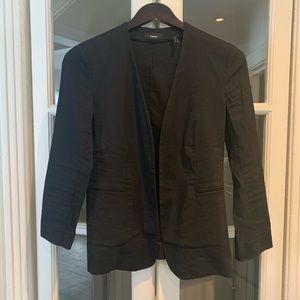 Theory black linen blazer. Size 0